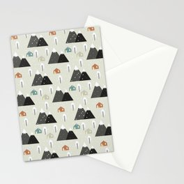 Winter Mountain Stationery Cards