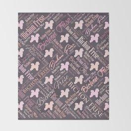 Bichon Frise Word Art Throw Blanket
