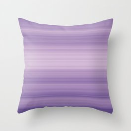 Pastel Ultra Violet Gradient Stripes Trendy Color of the year 2018 Throw Pillow