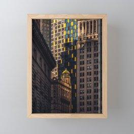 Urban Jungle - Skyscrapers in Financial District Lower Manhattan Framed Mini Art Print