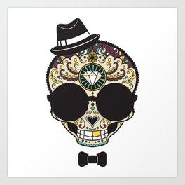 Blind Sugar Skull Art Print