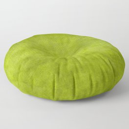"""Summer Fresh Green Garden Burlap Texture"" Floor Pillow"