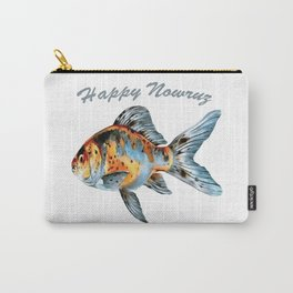 Happy Nowruz Shubunkin Goldfish Persian New Year Carry-All Pouch