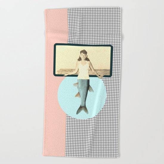 mermaid style Beach Towel
