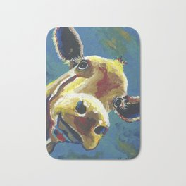 Cow Art, Colorful cow art print Bath Mat