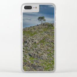 The lonely trees on the top of the mountain Clear iPhone Case