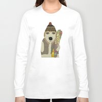 snowboarding Long Sleeve T-shirts featuring murphy by bri.buckley