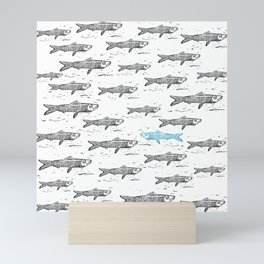 Blue Sardina Mini Art Print