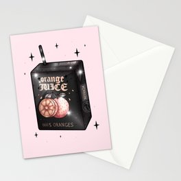 666% Goth Orange Juice Stationery Cards