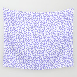 Small Random Dots Salmon BLUE Wall Tapestry