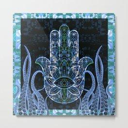 Hamsa Octopus Love and Welcome Boho Print Metal Print