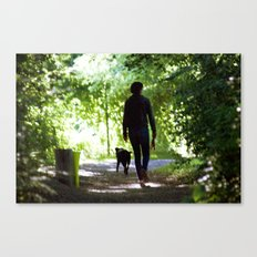Walking in the Woods Canvas Print