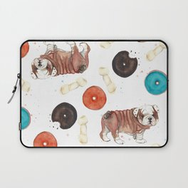 Bulldogs and donuts Laptop Sleeve