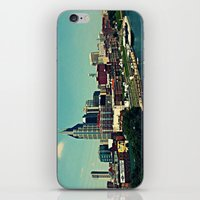 nashville iPhone & iPod Skins featuring Nashville Skyline by Sydney Smith