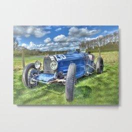 Grand Prix Vintage Sports car Metal Print