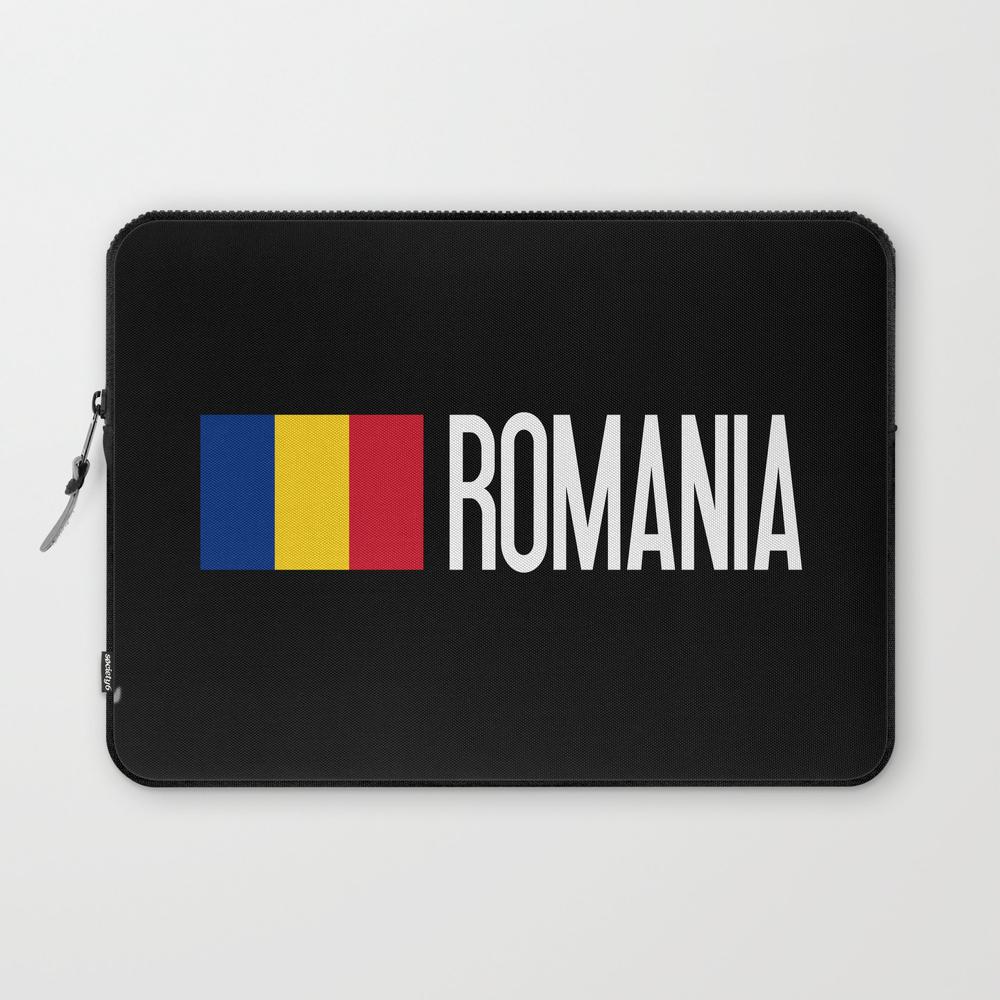 Romania: Romanian Flag & Romania Laptop Sleeve LSV8975386