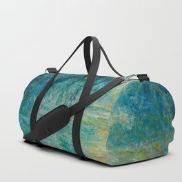 Claude Monet Impressionist Landscape Oil Painting Morning on the Seine Duffle Bag