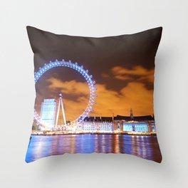 London Midnight Eye Throw Pillow