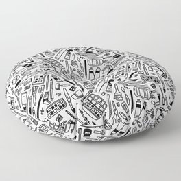 art supply explosion Floor Pillow