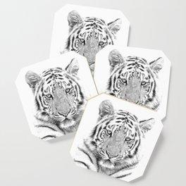 Black and white tiger Coaster