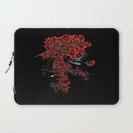 Rose skull girl Laptop Sleeve