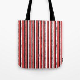 Strawberry Jiggle Stripes Tote Bag