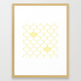 Yellow Scale Print Framed Art Print