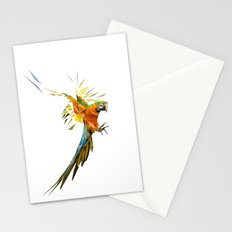 Low poly Parrot Stationery Cards