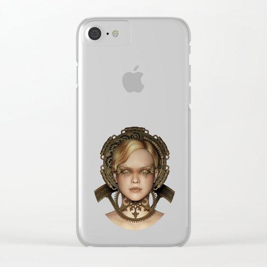 Steampunk female machine Clear iPhone Case