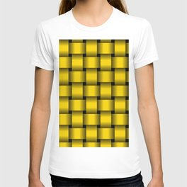 Large Gold Yellow Weave T-shirt