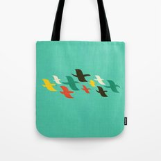 Birds are flying Tote Bag