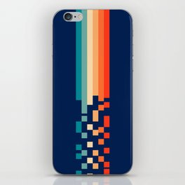 Classic 70s Style Abstract Rainbow Retro Stripes Pixel Drops - Ayako iPhone Skin