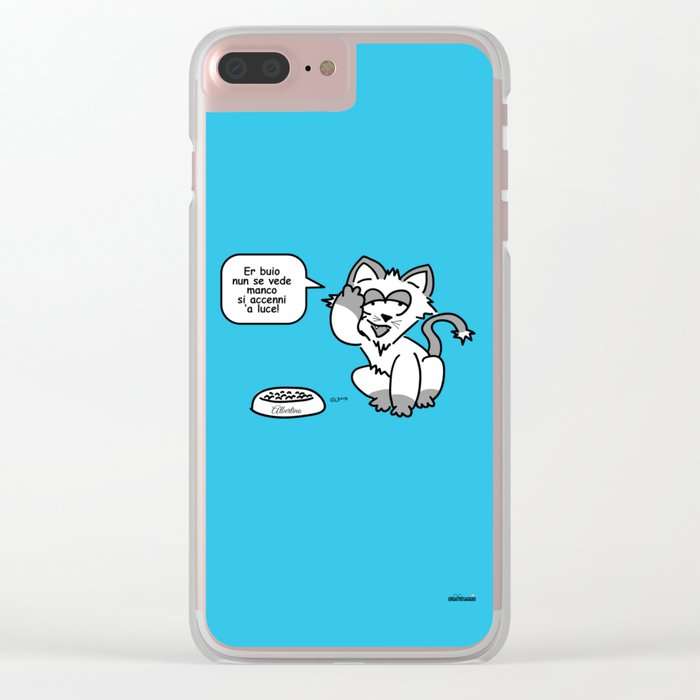 the wise cat - light and darkness Clear iPhone Case