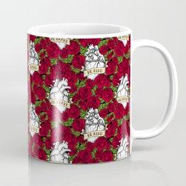 Heart and Roses Coffee Mug
