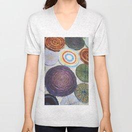Yarn Spirals  Unisex V-Neck