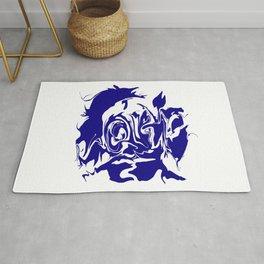 face4 blue Rug