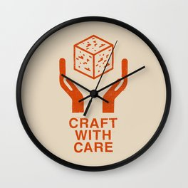 Craft With Care (Orange) Wall Clock