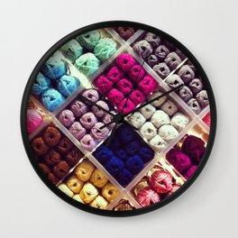 Yarn Display Wall Clock