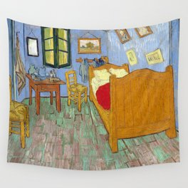 1889-Vincent van Gogh-The bedroom-73,6x92,3 Wall Tapestry
