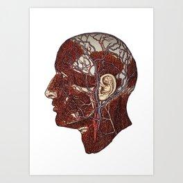 Side_Face_Model Art Print