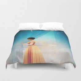 Night with a View Duvet Cover