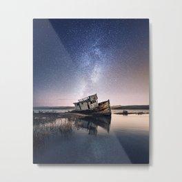 Shipwreck under the stars Metal Print