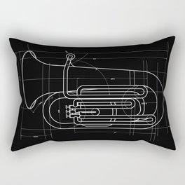 Geometric Tuba Rectangular Pillow