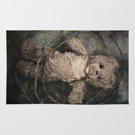 trapped teddy bear Rug