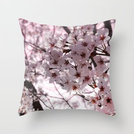 Sakura in Kyoto Throw Pillow