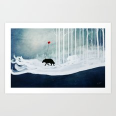WOLF - A Love Always Carried  Art Print
