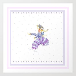 A Roly Poly Rumpus Art Print