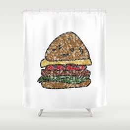 waxy burger Shower Curtain