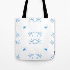 Birds of a feather - Swallow tattoo detail Tote Bag