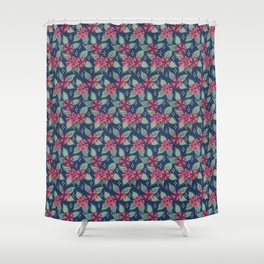 Rosy Periwinkle Shower Curtain
